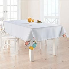 Celebrate Easter Together Cut-Out Bunny Tablecloth