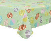 Celebrate Easter Together Vinyl Egg Tablecloth