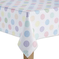 Celebrate Spring Together Polka-Dot Tablecloth