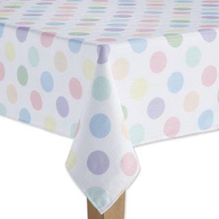 Celebrate Spring Together Polka-Dot Tablecloth