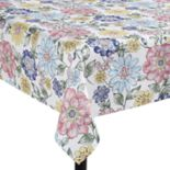 Celebrate Spring Together Floral Print Tablecloth