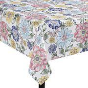 Celebrate Spring Together Floral Print Tablecloth