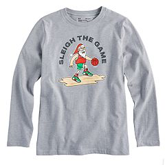 Boys 8-20 Under Armour Santa Basketball Tee