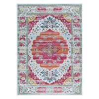KHL Rugs Aria Camille Framed Floral Rug