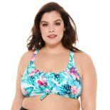 Plus Size Costa Del Sol Tie-Front Bikini Top
