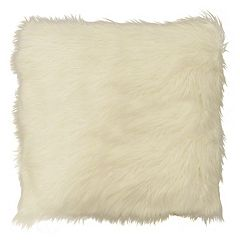 Spencer Home Decor Potter Angora Faux Fur Throw Pillow