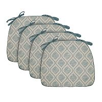 Food Network™ 4 pc Reversible Trellis Chair Pad Set