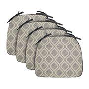 Food Network™ 4 pc Reversible Trellis Chair Pad Set