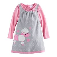 Baby Girl Nannette Poodle Jumper and Long-Sleeve Tee Set