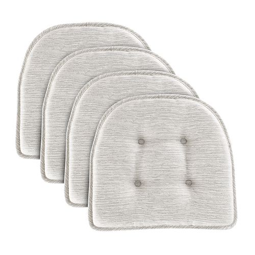 Food Network™ Stain-Resistant Wicked Gray Chair Pad 4-pack