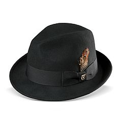 Men's Stacy Adams Wool Felt Pinched-Front Fedora