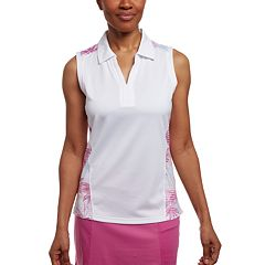 Women's Pebble Beach Printed Insets Sleeveless Golf Polo