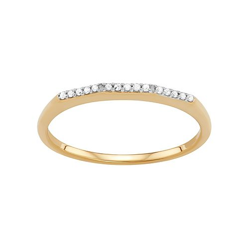 Sterling Silver Diamond Accent Ring
