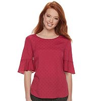 Women's ELLE™ Swiss Dot Top