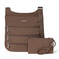 Women's Baggallini Big Zipper Bag with RFID Pouch