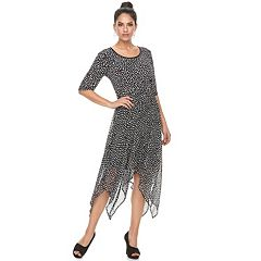 Women's ELLE™ Printed Handkerchief A-Line Dress