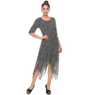 Women's ELLE? Printed Handkerchief A-Line Dress