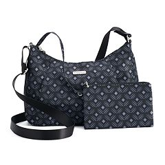 Women's Baggallini Slim Hobo Crossbody Bag with RFID Blocking Pouch