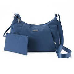 Women's Baggallini Slim Hobo Crossbody Bag with RFID Blocking Pouch