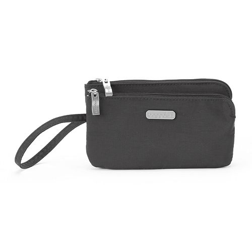 Women's Baggallini RFID Blocking Double Zip Wristlet