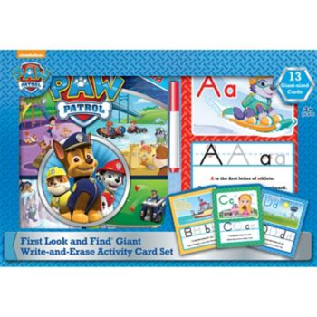 Paw Patrol My First Look And Find & Giant Write And Erase Activity Cards by PI Kids