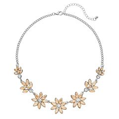 Yellow Graduated Flower Necklace
