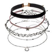 Star Charm, Velvet & Tattoo Choker Necklace Set