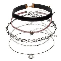 Star Charm, Velvet & Tattoo Choker Necklace Set