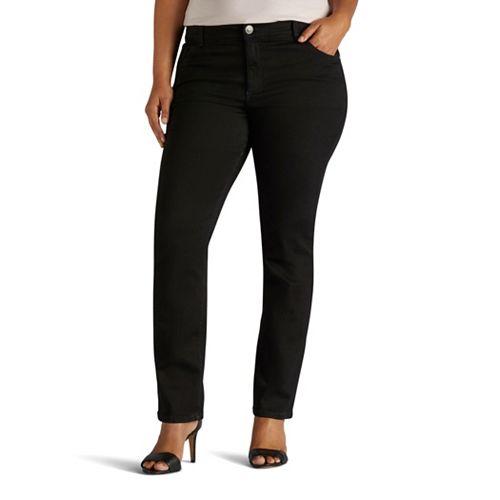Plus Size Lee Secretly Shapes Regular Fit Straight-Leg Jeans