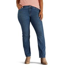 Plus Size Lee Secretly Shapes Regular Fit Straight-Leg Jeans