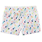 Girls 4-6X Carter's Colorful Dot French Terry Shorts