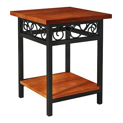 Alaterre Furniture Artesian Scrollwork End Table