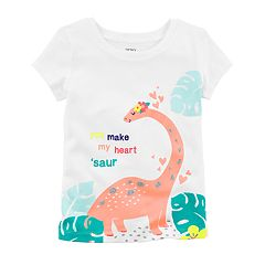 Girls 4-6X Carter's 'You Make My Heart 'Saur' Dinosaur Tee