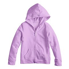 Girls 4-10 Jumping Beans® Ribbed Trim Hoodie