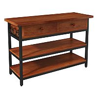 Alaterre Furniture Artesian Scrollwork TV Stand