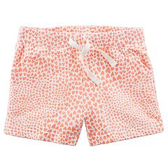 Girls 4-6X Carter's Heart Print Shorts