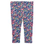 Girls 4-6x Carter's Floral Capri Leggings