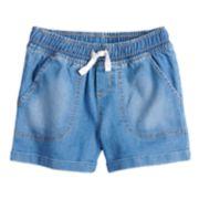 Girls 4-10 Jumping Beans® Denim Cuffed Shorts