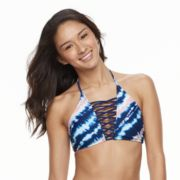Mix and Match Tie-Dye High-Neck Bikini Top