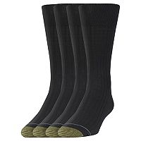 Men's GOLDTOE 3-pack + 1 Bonus Canterbury Crew Socks