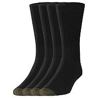 Men's GOLDTOE 3-pack + 1 Bonus Crew Socks