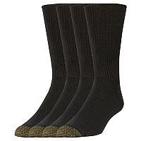 Men's GOLDTOE 3-pack + 1 Bonus Crew Socks