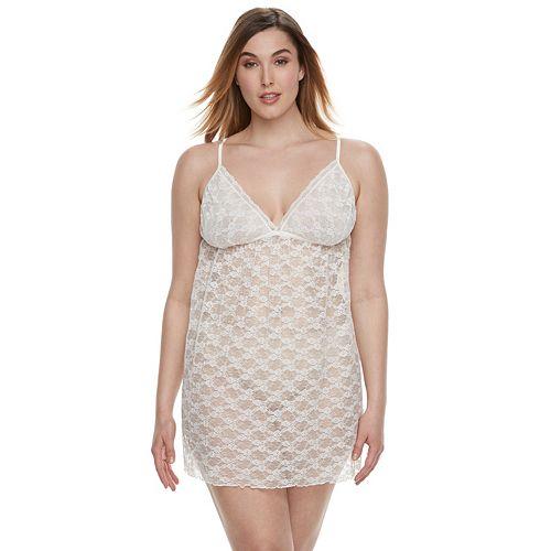 Plus Size Apt. 9® Pleated Lace Chemise