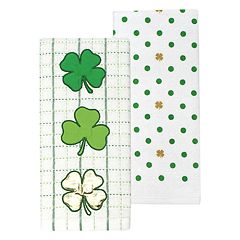 Celebrate St. Patrick's Day Together Shamrock Kitchen Towel 2-pk.