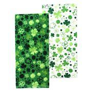 Celebrate St. Patrick's Day Together Shamrock Toss Kitchen Towel 2-pk.