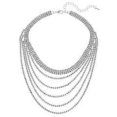 Crystal Avenue Cup Chain Swag Choker Necklace