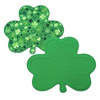 Celebrate St. Patrick's Day Together Quilted Reversible Shamrock Placemat
