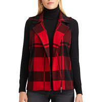 Women's Chaps Buffalo Plaid Sweater Vest
