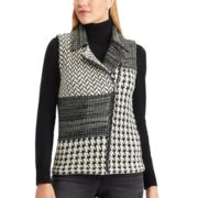 Women's Chaps Buffalo Plaid Sweater Vest