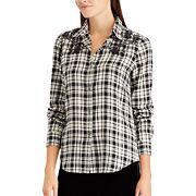 Women's Chaps Plaid Button-Up Shirt